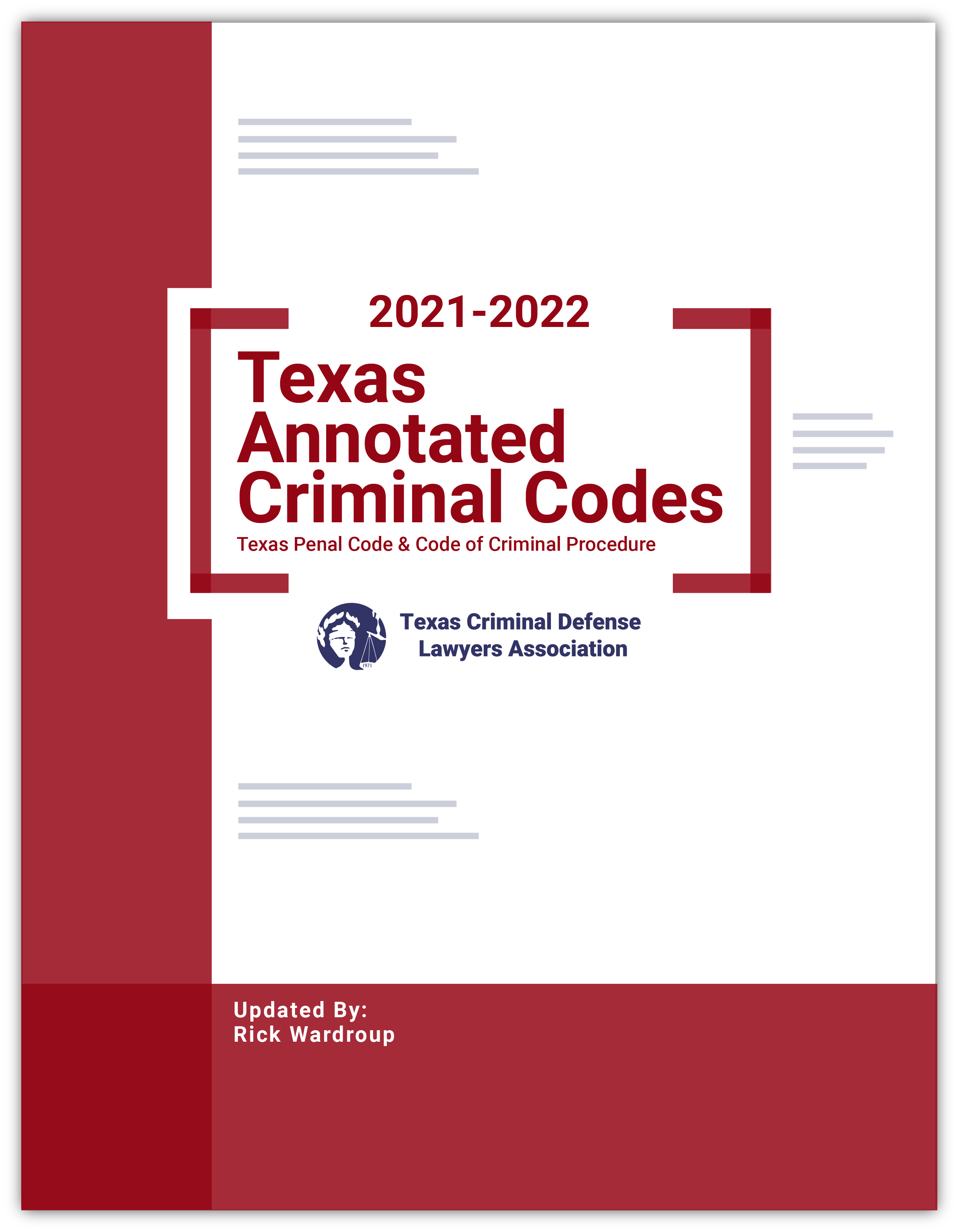Texas Annotated Criminal Codebooks, 2021
