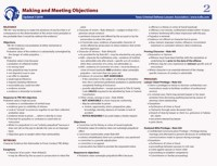 Cheat Sheet #2: Making & Meeting Objections 2019-20