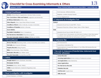Cheat Sheet #13: Cross-Examining Informants 2019-20