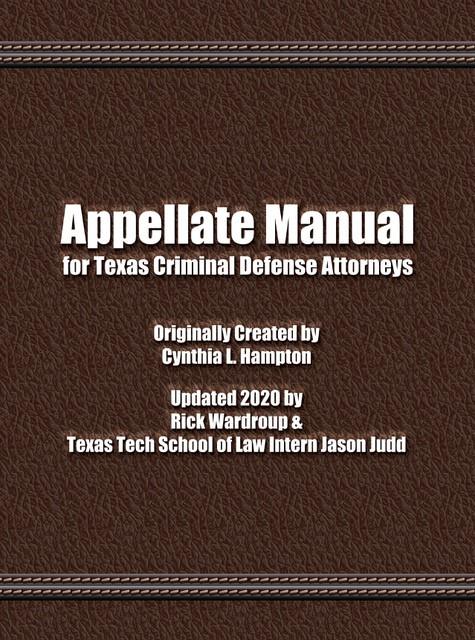 Appellate Manual, 2019-20