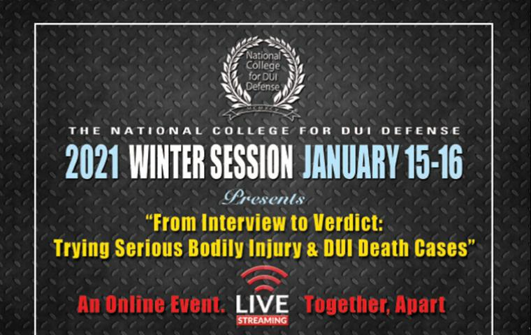 2021 Winter Session-From Interview To Verdict: